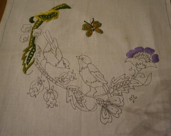 Crewel Pillow Case Kit (Unfinished)
