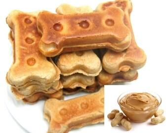 Peanut Butter Dog Bones,Dog Biscuits, Handmade Dog Treats, Dog Lover Gift- 16 oz = 1 lb
