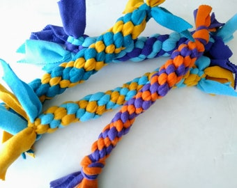 Fetch Tug Toy, Fleece Square Knot  Dog Toys, Exercise  Play Toy, Medium-Gift for Dog lovers