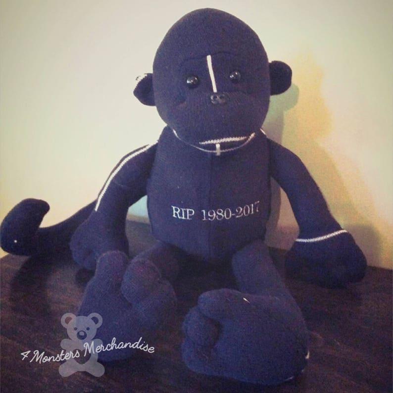 Pyjama Bear Memory Monkey Keepsake Bear Memory Bear Keepsake Gift Memorial gift