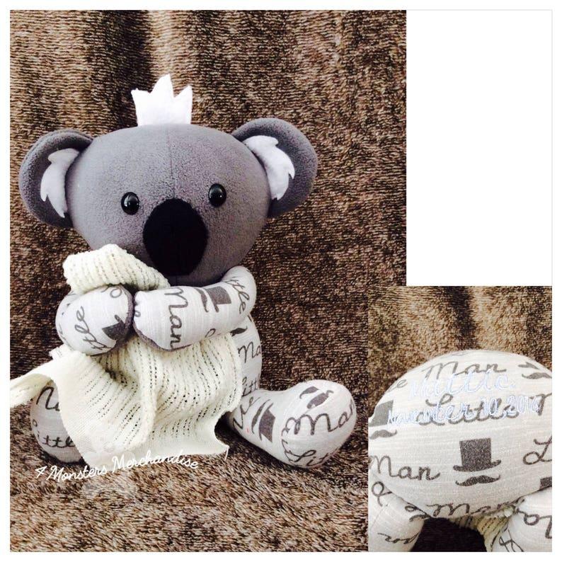 dfee75fc7 Memory Koala bear from baby clothes receiving blanket bear | Etsy