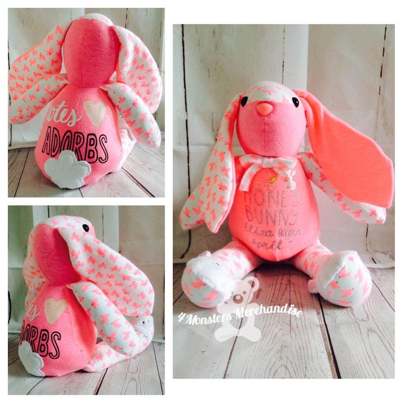 Memory Bunny Bear Personalized handmade custom memory image 1