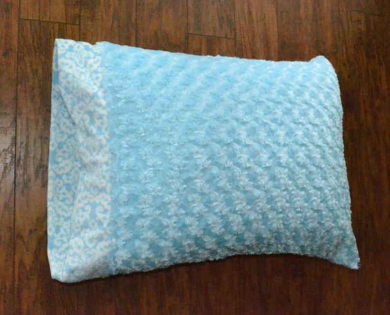 Baby Blue Minky Pillowcase.