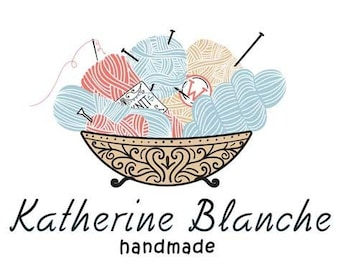 Ball of Yarn-Photo Prop Shop Knit or Crochet Shop Logo and Watermark Branding
