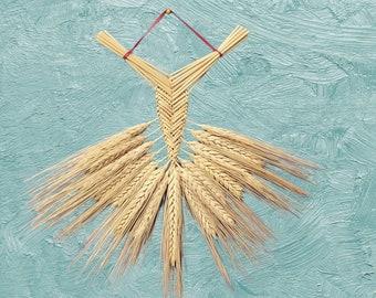 Wall hanging - corn dolly - wheat weaving - Welsh Fan bearded straw