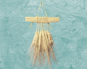 Wall Hanging - Wheat weaving - corn dolly - Arabic Cage bearded straw