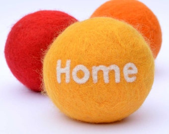 Personalised Stress Ball - merino wool filled with cinnamon and cloves.  Warm Hugs