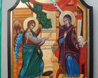 Orthodox icon Annunciation,Byzantine icon,Religious art,Handpainted icon