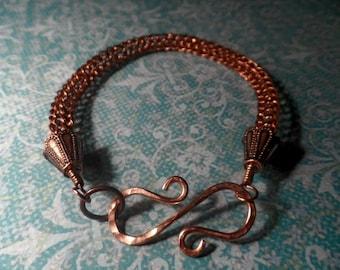 Copper Viking Knit Bracelet - Viking Fealty Bracelet - Odin - Thor - Ragnar - Vikings