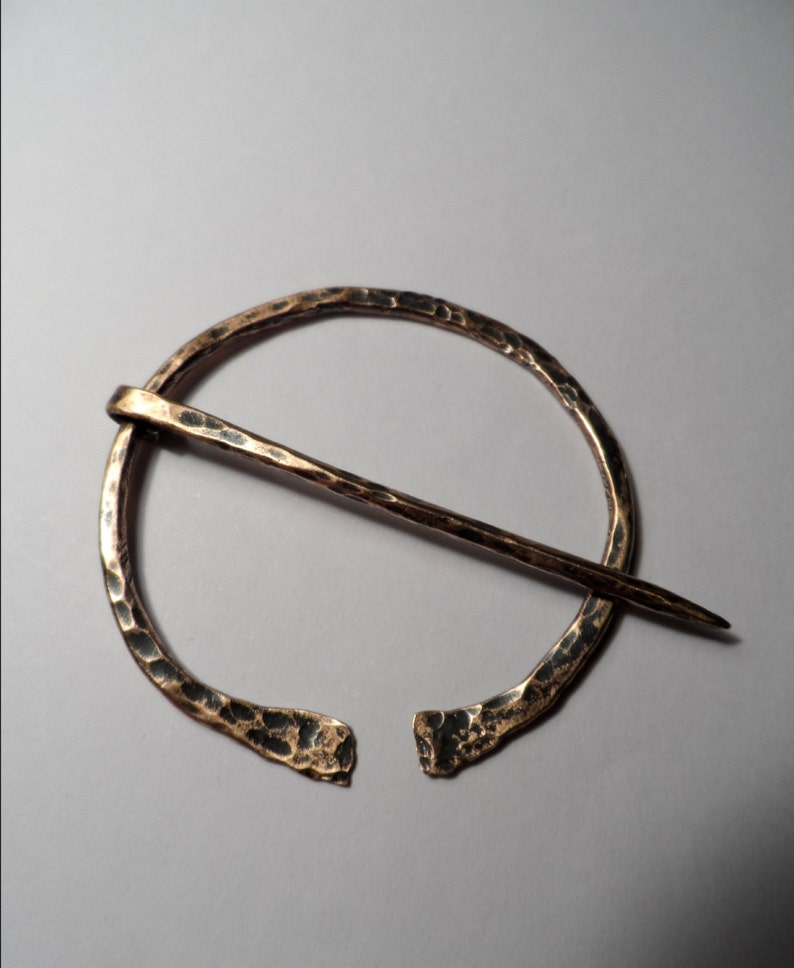 Viking Fibula Cloak / Scarf / Kilt Pin  Forged Bronze  Exact image 0