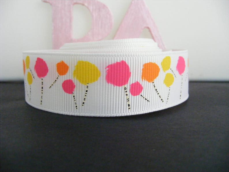 Grosgrain Ribbon by the meter #4477 Abstract Flowers 22mm 7//8/""