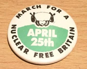 Vintage Anti Nuclear Badge