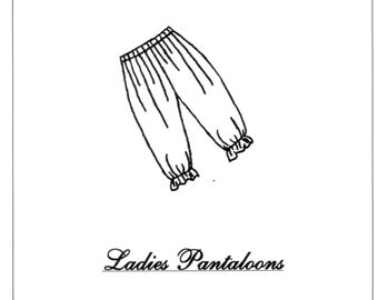 Ladies Pantaloons / Bloomers Sewing Pattern - by The King's Daughters - #1601