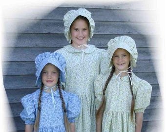Custom Made Girls Prairie Bonnet