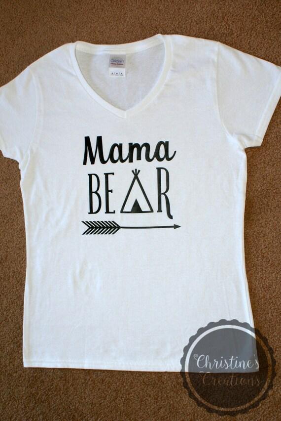 e7aae944 Mama Bear & Baby Bear T-Shirt Set | Etsy