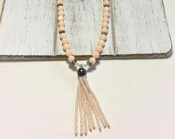 Long Beaded Necklace - Tassel Necklace - BoHo Necklace - Beaded Tassel - Gift for Her - BoHo - Gift - Handmade Jewelry - Necklace - Birthday