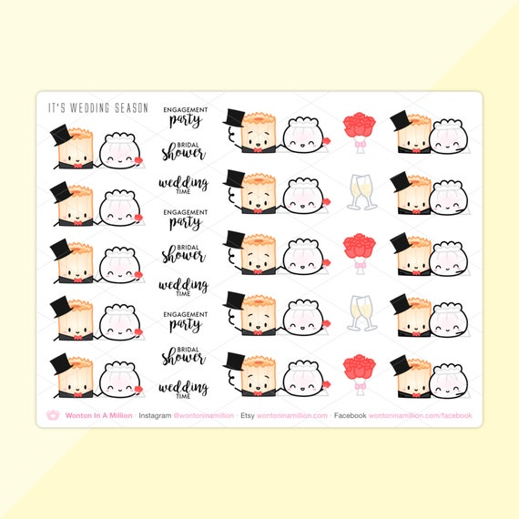 Wedding Season Stickers Love Is In The Air Etsy