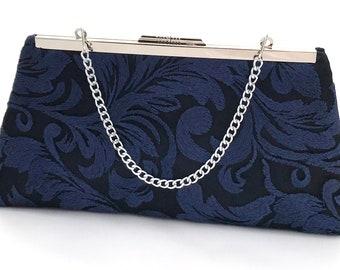 ddd590fff8c Navy Blue Lace Purse ~ Blue Cocktail Clutch ~ Blue Bridesmaid Handbag ~  Ready to Ship