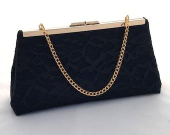 39889f304e Navy Blue Lace Handbag Clutch Purse ~ Blue Evening Handbag ~ Blue Clutch ~ Navy  Purse