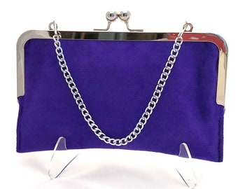 454b6e1aedb Purple Suede Wallet ~ Purple Clutch ~ Purple Suede Purse ~ Ready to Ship