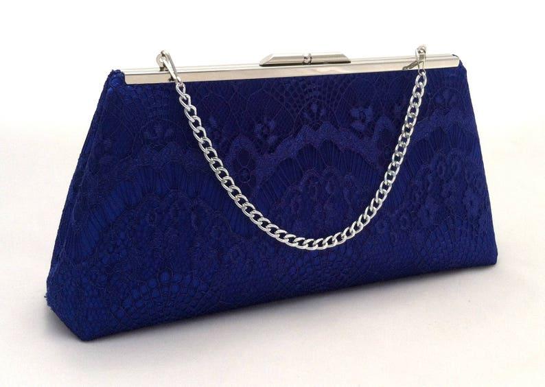705e8b8bb0e0 Royal Blue Lace Handbag Clutch Purse Royal Blue Lace Summer