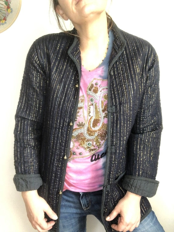 Vintage Indian quilted jacket