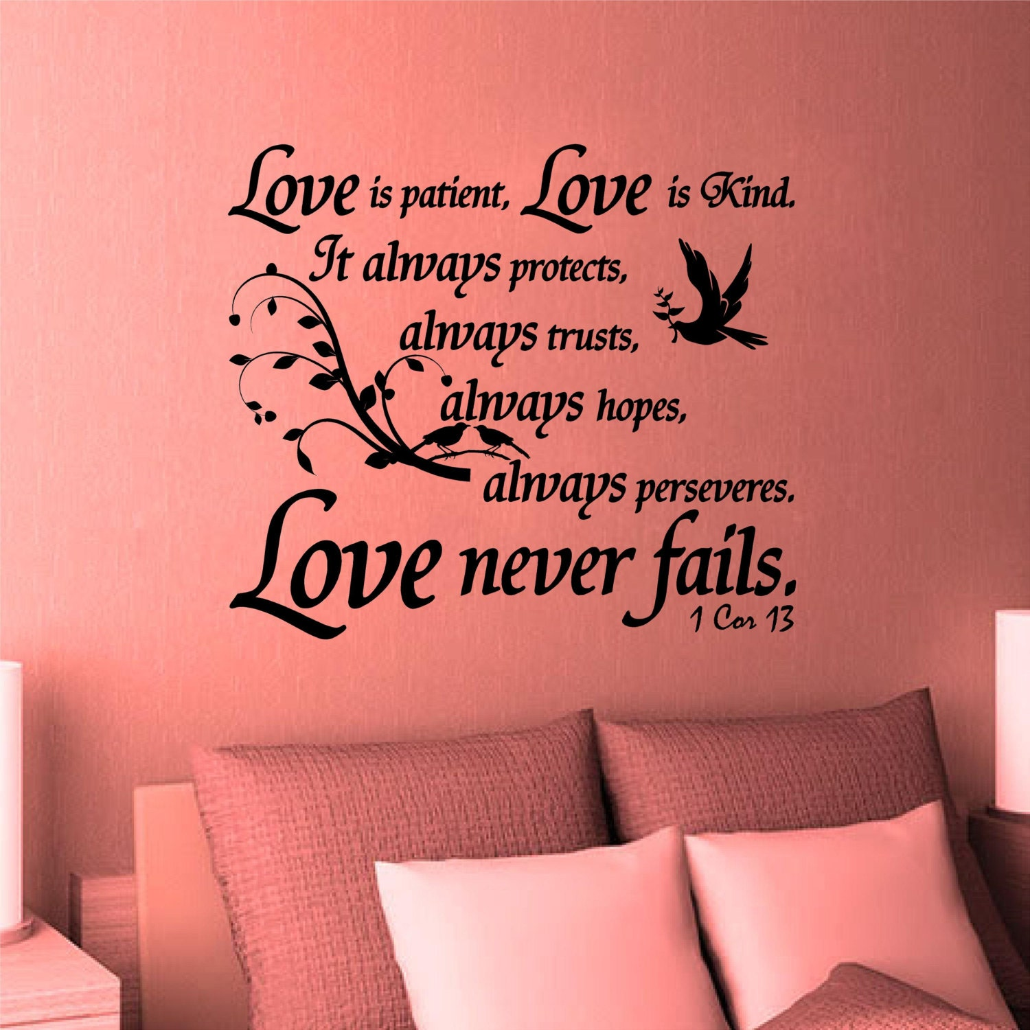 Wall Decal. Bible Scripture. 1 Corinthians 13. Love is | Etsy
