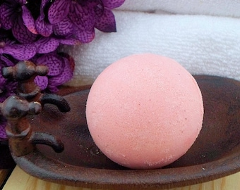 Scented Bath Bomb - Red Bath Bomb - Bathbombs - Spa Gift Ideas - Bath Bomb Gifts - Bath Fizz Bombs - Vegan Bath Fizzy - Colorful Bath Bomb