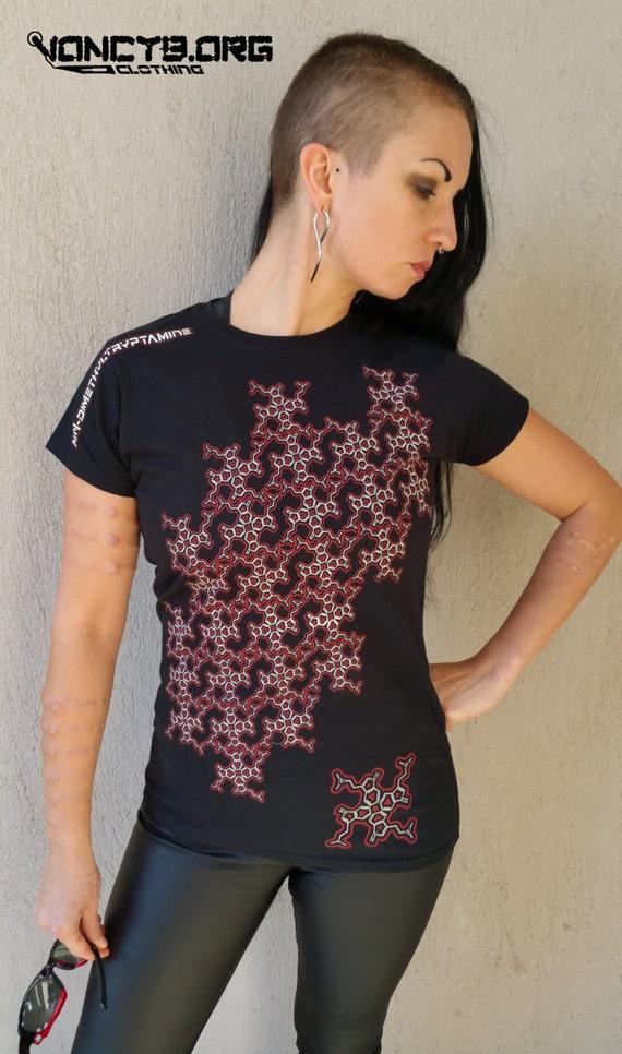 Damen DMT Molekül Hakenkreuz pattern t-shirt   Etsy