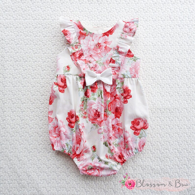 1a2e513339 ROSA Baby Playsuit Romper Girls Floral Dress