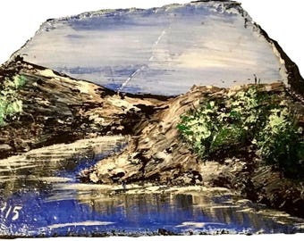 Stream Valley in Quarry Painting
