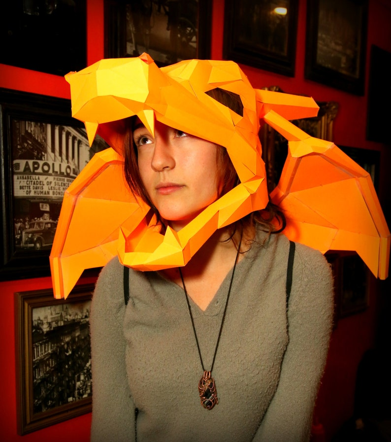 Charizard Paper Mask & Wings image 0
