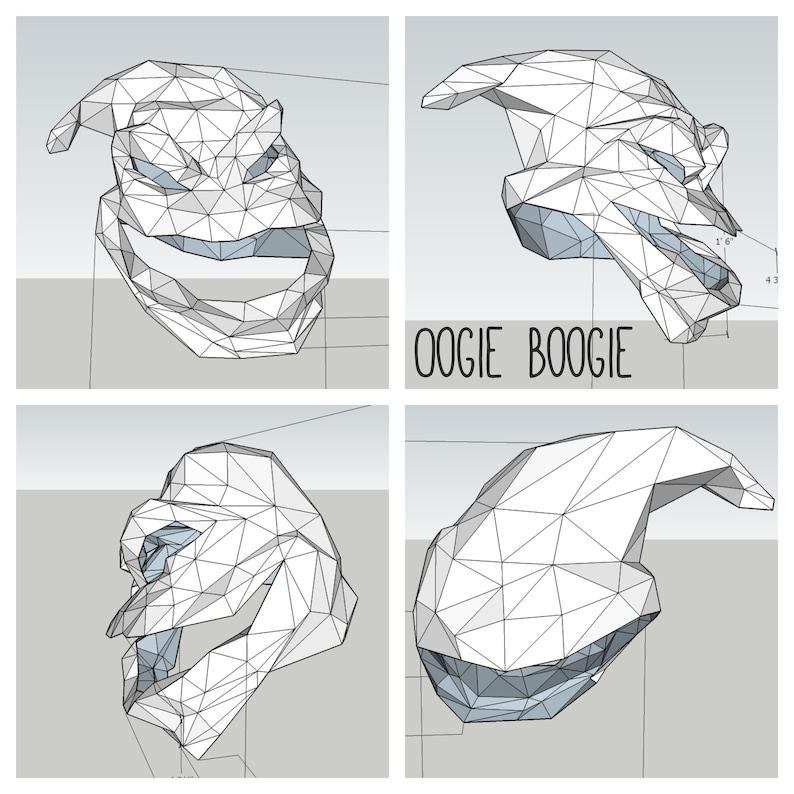 Oogie Boogie DIY papercraft Halloween mask   Etsy