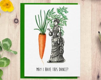 Funny Birthday Card For Her Him Vegan Vegetarian Handmade Greeting