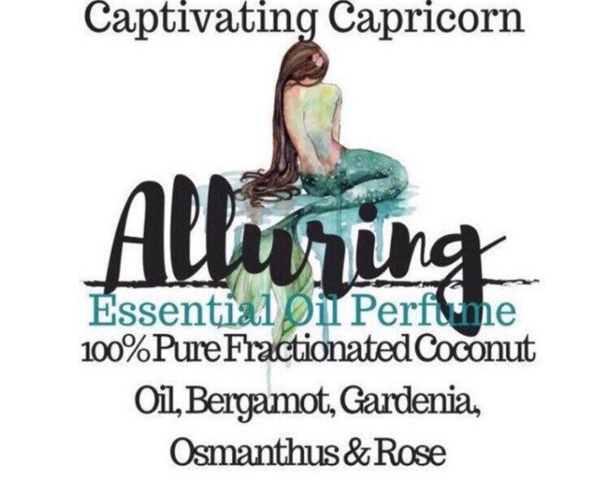 Featured listing image: Alluring Natural Essential Oil Perfume by Captivating Capricorn Clothing&Jewelry SAFE Bergamot Gardenia Osmanthus 5 mL or 10 mL Roller Ball