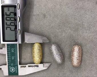 27*12mm Oval beads, Micro Pave Diamond CZ Cubic Zirconia Findings, DIY Jewelry Making