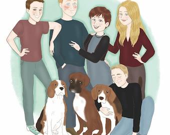 Family portrait - custom