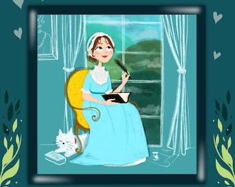 Jane Austen - Quality Print