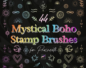 Procreate Stamp Brushes - Mystical Boho Stamps for iPad Procreate - Decorative Stamps for Design