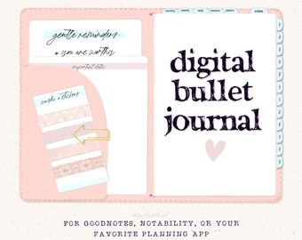 2021 Digital Bullet Journal, Digital Planner for GoodNotes, Notability Planner, Hyperlinked daily, weekly, monthly bujo iPad/tablet
