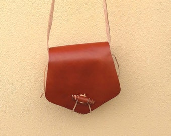 Leather bag, shoulder bag, summer bag