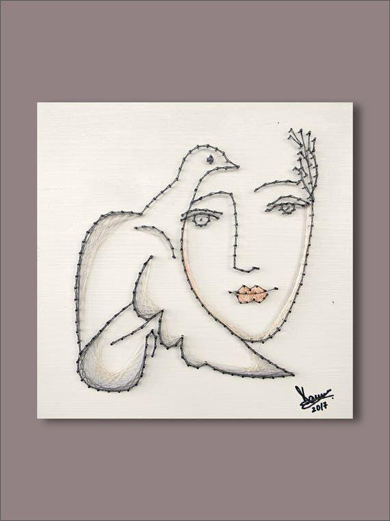 String Art Picasso wall art minimalist wall art elegant Pablo | Etsy