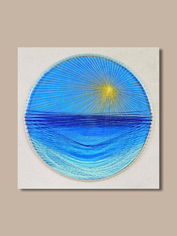 String Art Seaside wall art beach decor sea wall art summer | Etsy