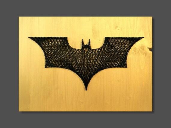 String Art Batman wall art wall decor batman decor logo batman