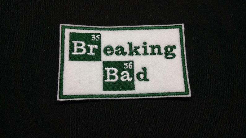 Breaking Bad Embroidered Patch Badge Iron on or sew
