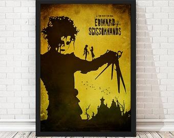Edward Scissorhands - Tim Burton Movie Poster, Vintage Poster, Minimalist Poster