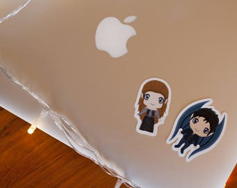 Large Character Vinyl Laptop Stickers