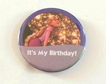 "Rapunzel Tangled ""It's My Birthday!"" Disney Celebration Inspired Button/Pin/Badge"
