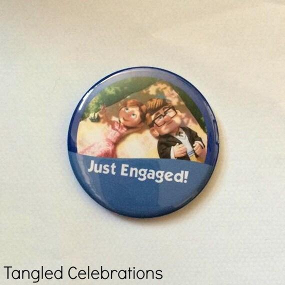 Custom 3 I/'m Celebrating My AnniversaryWedding Buttons with Carl /& Ellie