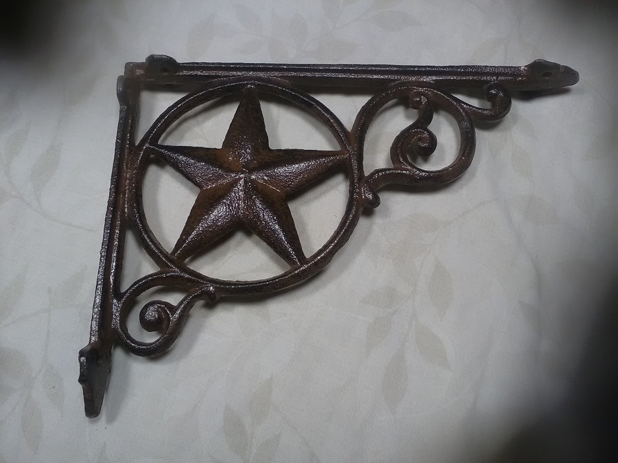 Antique Curtain Rods 2 Western Star Shelf Brackets Corbel Cast Iron Rustic Decor Antique Look Bracket Antiques Whynot Com Mk
